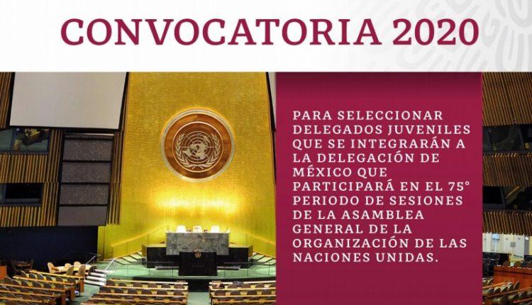 Convocatoria Delegados Juveniles 2020: Gana viaje a Nueva York a la Asamblea General de la ONU