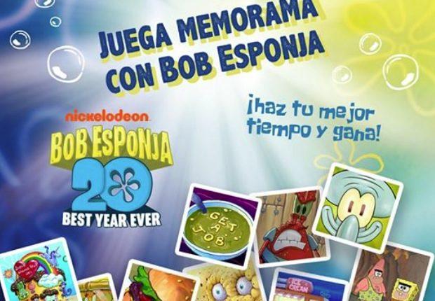 Concurso Krispy Kreme Memorama Bob Esponja: Gana donas de Bob Esponja