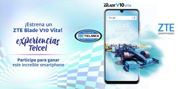 Concurso Experiencias Telcel: Gana un celular ZTE Blade V10 Vita edición especial de la Escudería Telmex-Telcel
