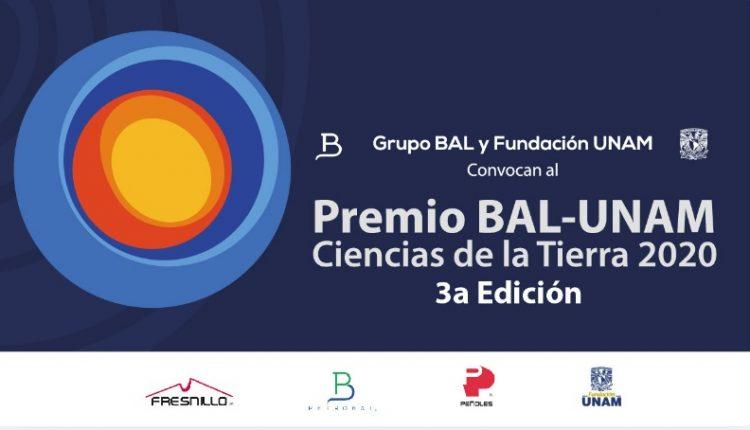 Premio BAL-UNAM Ciencias de la Tierra 2020: Gana hasta $200,000 pesos
