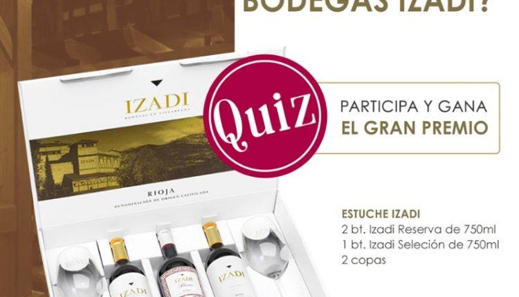 Trivia Gastronómadas Bodegas Izadi: Gana un kit de vino tinto
