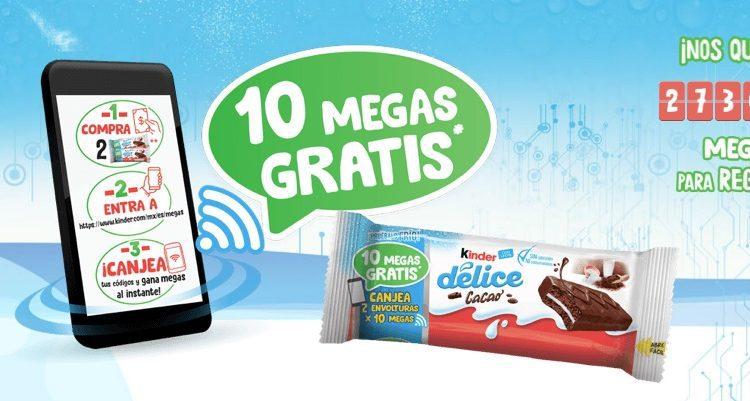 Promoción Kinder Delice: Ingresa tu código y gana megas para tu celular en kinder.com/megas