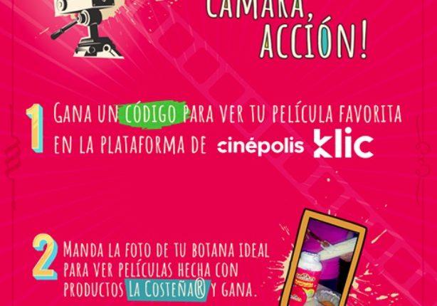 Concurso La Costeña: Gana 1 de 100 códigos para ver una película en Cinépolis Klic