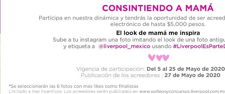 Concurso Liverpool El Look de Mamá me inspira: Gana monederos Liverpool de hasta $5,000 pesos