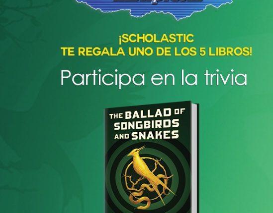 Concurso Scholastic y Mixup : Gana 1 de 5 libros de Los Juegos del Hambre The Ballad of Songbirds and Snakes