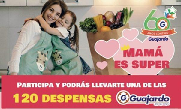 Concurso Día de las Madres Super Guajardo: Gana 1 de 120 despensas en mamaessuper.guajardo.com.mx