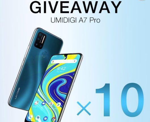 Giveaway UMIDIGI: Gana 1 de 10 smartphones UMIDIGI A7 Pro
