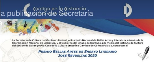 Premio Bellas Artes de Ensayo Literario José Revueltas 2020: Gana $300,000 pesos