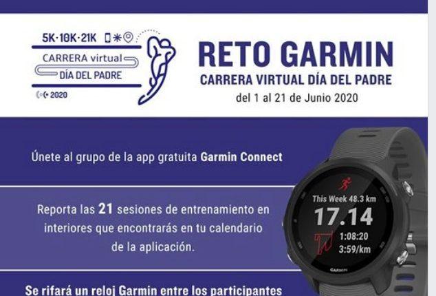 Reto Garmin Carrera Virtual Día del Padre 2020: Gana un reloj Garmin