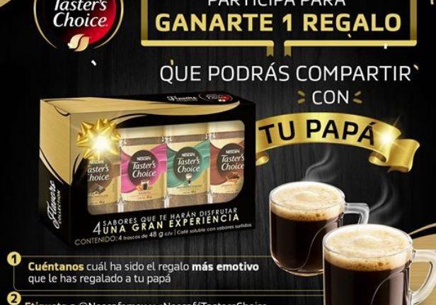 Concurso Nescafé Tasters Choice: Gana un kit con 2 tazas y pack de sabores para compartir con tu papá