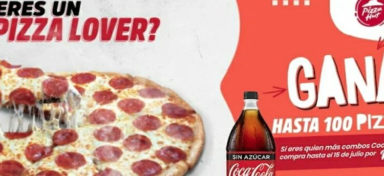 Promoción Rappi Pizza Hut: Gana hasta 100 pizzas Gratis