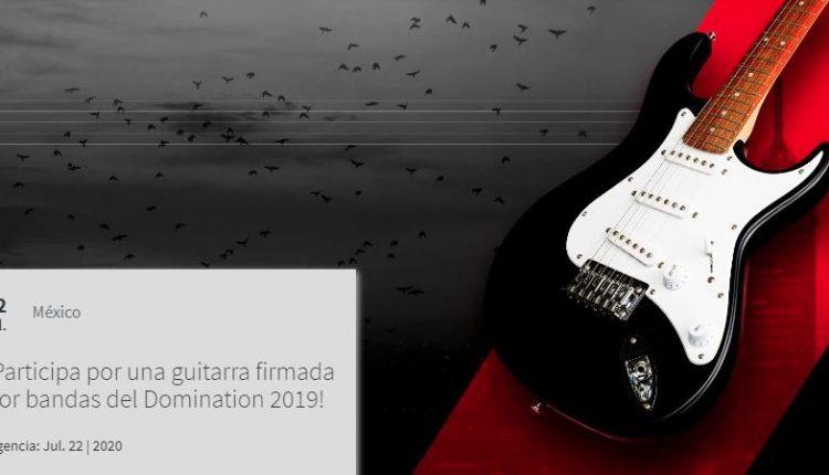 Gana una guitarra firmada por bandas del Domination 2019 en el concurso de Experiencias Telcel