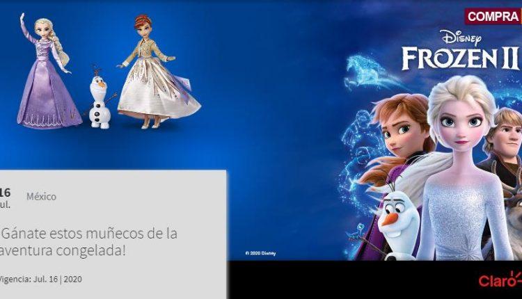 Concurso Claro Video y Telcel: Gana muñecas de Frozen 2