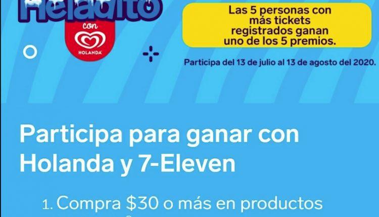 Promoción 7-Eleven Helados Holanda Verano Heladito: Gana audífonos Airpods