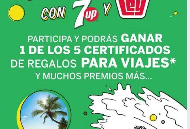 Promoción Refréscate con 7 Up y Casa Ley: Gana 1 de 5 viajes con valor de $47,800; celulares, TVs y más