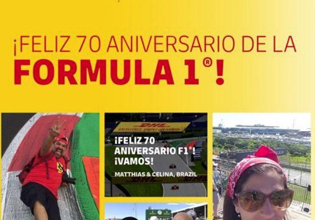Promoción DHL 70 Aniversario Formula 1: Gana que tu foto aparezca en la carrera de Silverstone