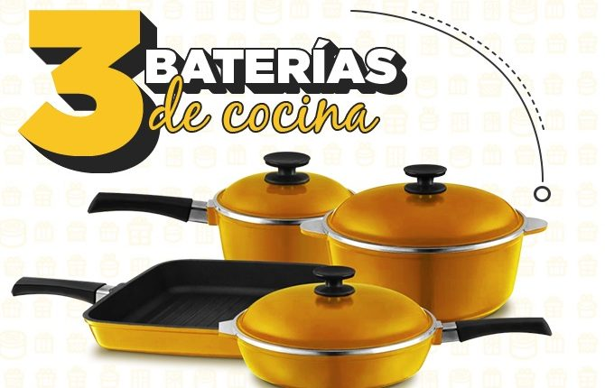 Concurso Club El Gourmet: Gana 1 de 3 baterías de cocina