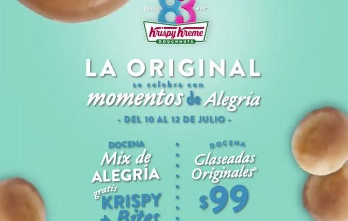 Concurso Krispy Kreme 83 Aniversario: Gana donas gratis por 1 año