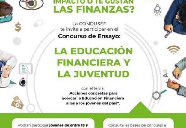 Concurso Condusef La Educación Financiera y La Juventud: Gana hasta $100,000 pesos