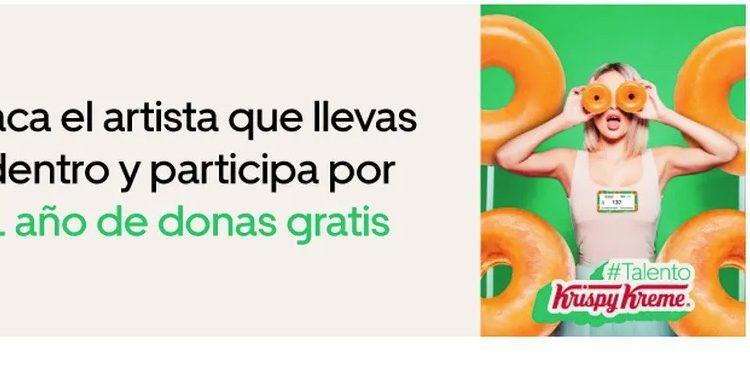 Concurso #TalentoKrispyKreme de Uber Eats: Gana 1 año de donas gratis