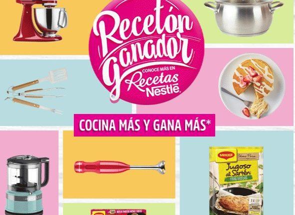 Promoción Recetón Ganador de Recetas Nestlé regala cientos de electrodomésticos en recetasnestle.com.mx