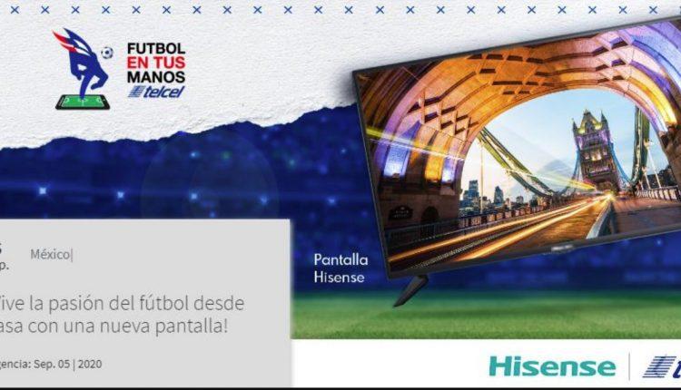 Gánate una nueva pantalla Hisense en el concurso de Telcel