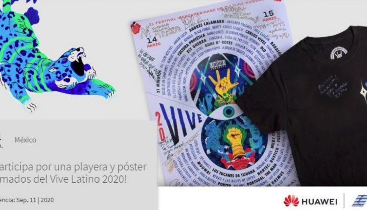 Gana una playera y póster firmados del Vive Latino con Huawei y Telcel