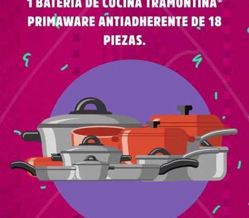 Concurso Bodega Aurrerá y Nestlé Disfruta las Fiestas Patrias: Gana 1 de 10 baterías de cocina de 18 piezas