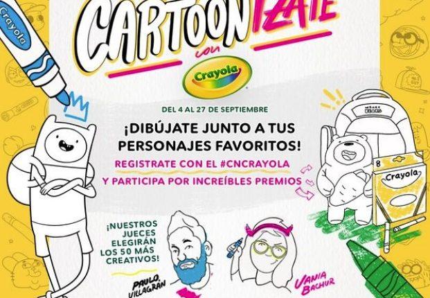 Concurso Cartoon Network y Crayola Cartoonizate: Gana 1 de 50 kits en cnfanart.com