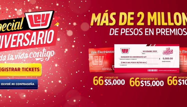 Promoción Casa Ley 66 Aniversario: Registra tus tickets y gana parte de más de 2 millones de pesos en premios