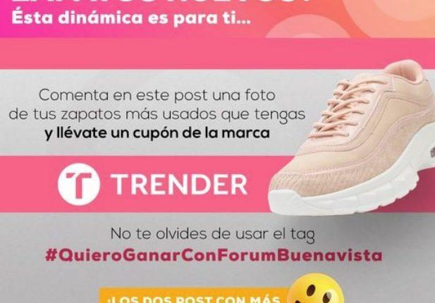 Gánate un par de zapatos Trender en el concurso de Forum Buenavista