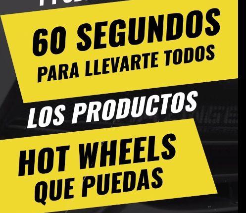 Promoción Hot Wheels Experto en Leyendas regala todos los Hot Wheels que puedas tomar en 60 segundos