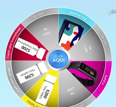 Ruleta de la Suerte Huawei Aniversario 2020: Gana una Matepad 10.4 o una Band 4