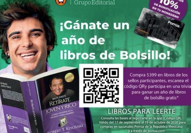 Concurso Porrúa: Gana un año de libros de Bolsillo gratis