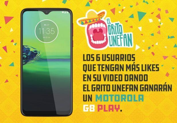 Concurso Unefon Grito Unefan: Gana un celular Motorola G8 Play