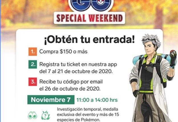 Entradas Gratis para el Pokémon Go! Special Weekend 2020 cortesía de 7-Eleven