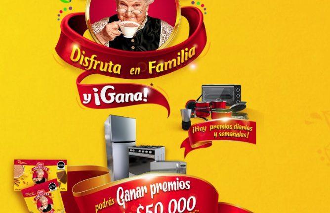Promoción Chocolate Abuelita Disfruta en Familia y Gana: Registra tu lote y gana en abuelita.com.mx/promocion
