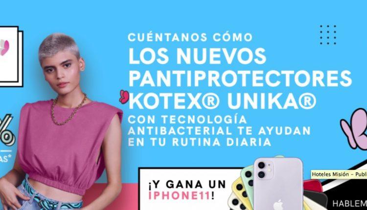 Concurso Kotex Unika: Gana iPhone 11, kits de maquillaje y tarjetas Amazon en espaciounika.com
