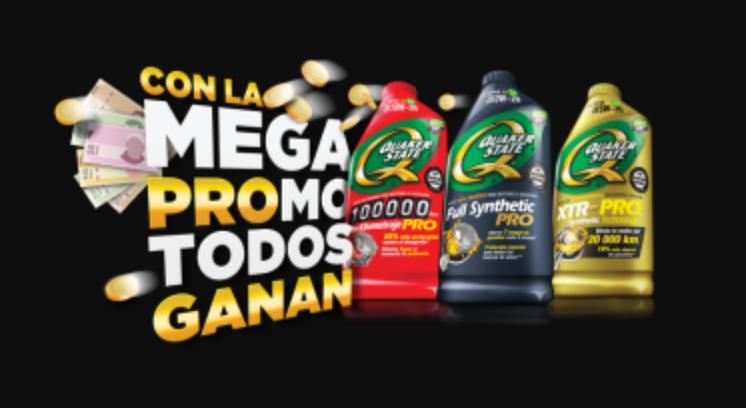 Mega Promo Todos Ganan Quaker State: Gana retiros en cajero de hasta $1,000 pesos y muchos premios más