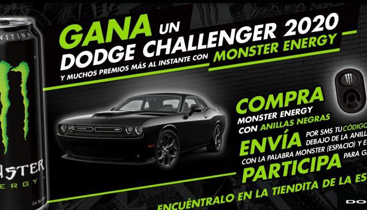 Promoción Monster Energy: Gana un auto Dodge Challenger 2020 en monsterenergy.com
