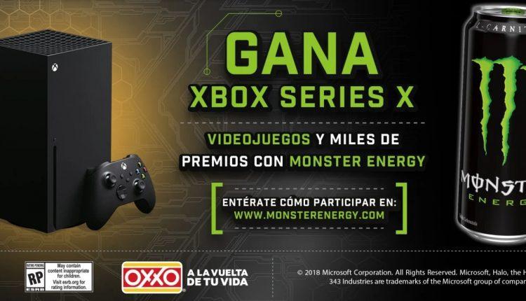 Promoción Monster Energy Oxxo: Gana consolas Xbox Series X y videojuegos