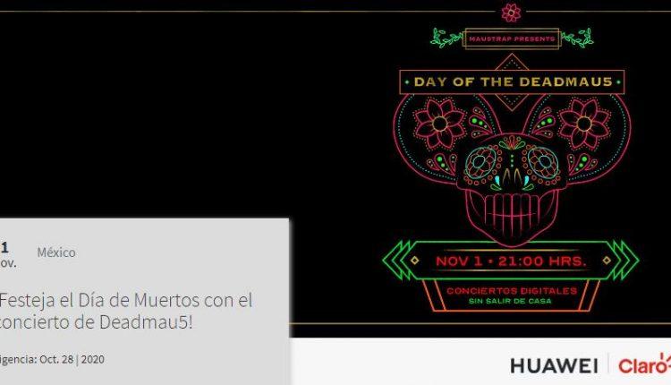 Gana boletos para el concierto virtual de Día de Muertos de Deadmau5 con Claro Música y Huawei