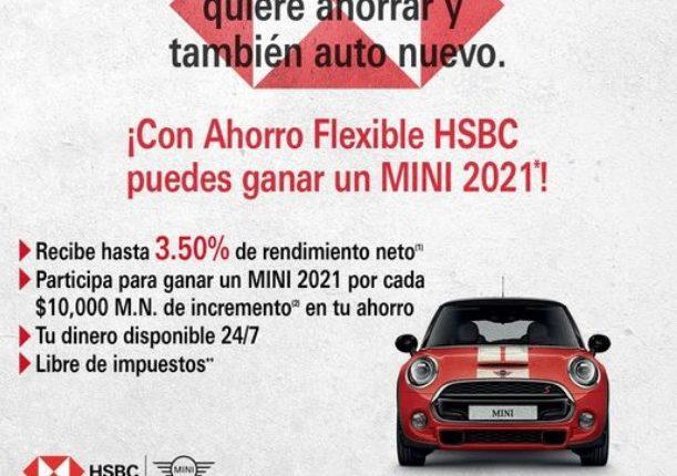 Promoción Ahorro Flexible HSBC: Gana un auto Mini 2021