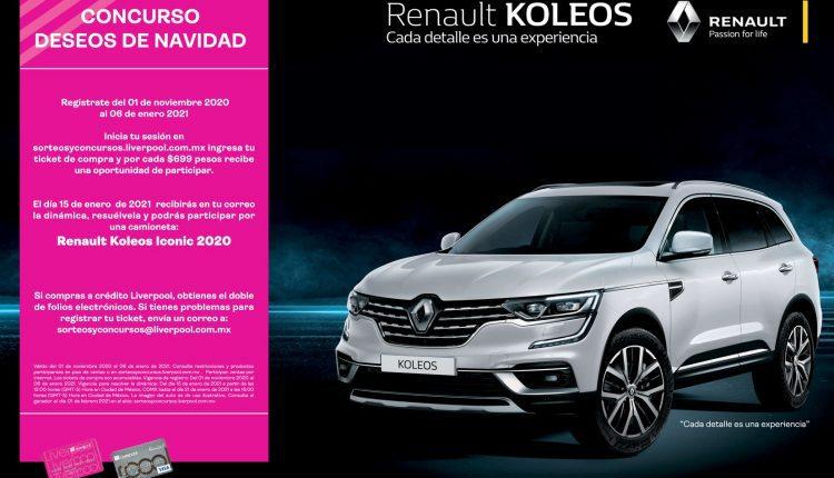 Sorteo Liverpool Deseos de Navidad 2020: Registra tu ticket y gana una Renault Koleos