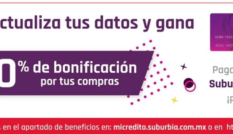Concurso Suburbia Buen Fin 2020: Gana el 10% de bonificación de tu compra
