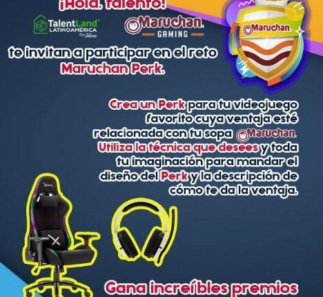 Concurso Talentland Maruchan Perk Challenge: Gana silla gamer o audífonos
