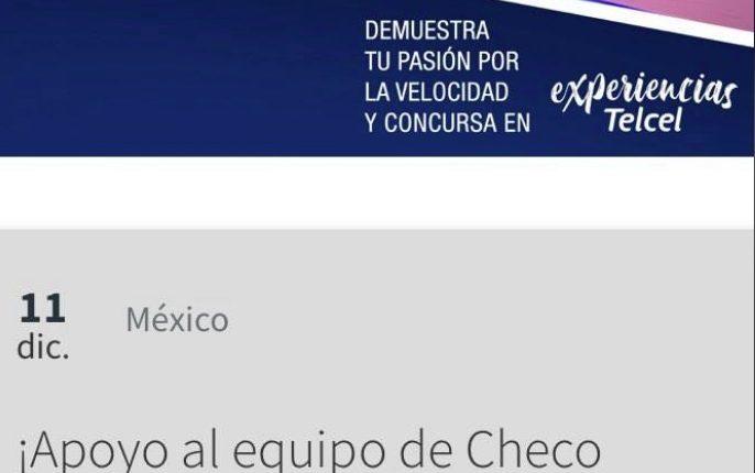 Gana kit con chamarra, gorra y playera de la Escudería Racing Point de Checo Pérez