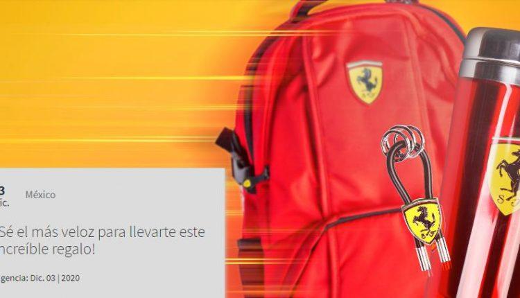 Gana kits Ferrari con mochila, termo y llavero en el concurso de Experiencias Telcel