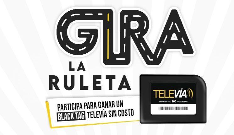 Promoción TeleVía Gira la Ruleta: Gana un dispositivo Black Tag TeleVía edición limitada