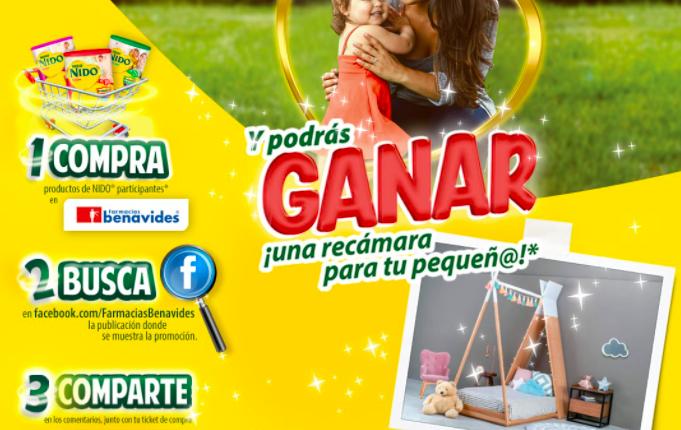 Concurso NIDO y Farmacias Benavides: Gana 1 de 2 recamaras Montessori para tu pequeño